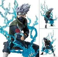 bıçak figürü toptan satış-12 cm Anime Naruto Ninja Copiador Hatake Yıldırım Blade ile Kakashi PVC Action Figure Koleksiyon Model Oyuncak