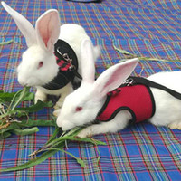 Wholesale rabbit harnesses for sale - Group buy Small Animals Harness and Leash Set For Hamster Rabbits Bunny Ferret Guinea Breathable Mesh Dog Harness Pets Vest Pet Supplies