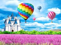 Wholesale Air Drilling - Hot Air Balloon Castle 5D DIY Diamond Painting Kit for Adults,Full Square Drill Diamond Cross Stitch By Number Kits
