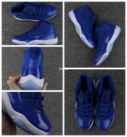 Wholesale Mens Golf Shoes Size 11 - 2018 New Air Retro 11 XI Royal Blue Basketball Shoes For Men Sports Mens Retros 12s Trainers Athletic Sneakers Size US 7-13