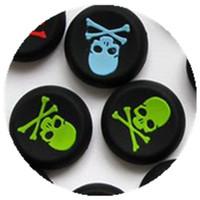 caja del controlador xbox one al por mayor-100 unids / lote cabeza del cráneo protector Thumb Stick Grip Joystick cubierta caso Cap para PS4, PS3, XBOX ONE y Xbox360 controladores de juego