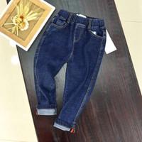 vaqueros de moda para bebés al por mayor-2018 Fashion Brand Boys baby boy Jeans infantil para primavera otoño pantalones de mezclilla para niños pantalones azul marino diseñados