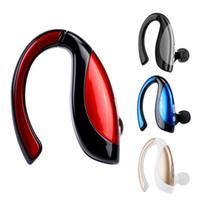 direksiyon hoparlörü bluetooth toptan satış-Bluetooth Kablosuz Araç Kulaklık Kulak Kanca Kulaklık Gürültü Iptal Kulak Kulakiçi iPhone ve Android için Mic ile