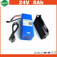 Wholesale electric bicycle battery 24v - 24v E-Bike Battery 8Ah 500w With 29.4v 2A Charger Lithium Battery Built in 30A BMS Electric Bicycle Battery 24v Free Shipping
