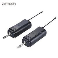 Wholesale electric bass violin - ammoon Guitar Wireless Transmitter Audio Electric Guitar Transmitter Receiver System for Electric Bass Violin