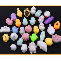 Wholesale soft toys for kids - New 2018 Squishy Squeeze Mini Animal Toys Mix Soft Tpr Cartoon Kawaii Decompression Toys For Kids Adult Party Favor XMAS Gifts HH7-783