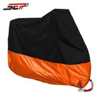 Wholesale rain m - Waterproof Moto motorbike orange M L XL XXL XXXL XXXXL Moped Scooter Rain UV Dust Motorcycle Cover