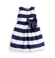 ingrosso pannello esterno di organza nera arancione-Il tutu di Bowknot a strisce blu del vestito senza maniche da un pezzo delle ragazze del bambino di modo veste l'estate che spedice liberamente