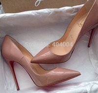 ingrosso scarpe con tacco a vento viola-2018 pompa vernice Pigalle Heels DONNA scarpe da sposa scarpe a punta tacchi sottili donna sexy rosso Nero, tacchi alti viola, pelle di pecora 35-42