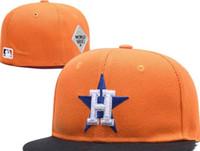 размеры колпачков оптовых-Лучшие продажи Хьюстон команда установлены шляпы Бейсбол вышитые команда письмо плоские поля шляпы бейсболки размер шапки бренды Спорт Chapeu для мужчин и женщин