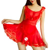 ingrosso sexy rosso della biancheria sexy-Costumi sexy vestiti discoteca vestito da festa domestica uniforme prodotto del sesso lingerie erotica backless vestiti della boemia biancheria intima di pizzo rosso rosa
