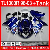 tanques suzuki al por mayor-Carrocería + tanque para SUZUKI TL 1000R TL1000 R TL1000R 98 99 00 01 02 03 42NO0 TL-1000R 1998 1999 2000 2001 2002 2003 Factory blue Fairing kit