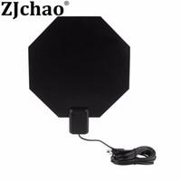 octagon preto venda por atacado-ATSC Ultrathin Interior 1080i 1080 P 720 P HDTV Forma Octagon Preto Longo Alcance VHF UHF Amplificada Antena Plana