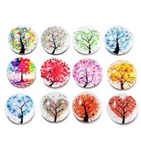 Wholesale Party Supply S - Bulk Lots 12pcs lot 25mm Fridge Magnet Tree of Life Stickers Home Decor Kitchen Accessories Party Supplies Wedding Decorations
