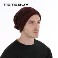 Wholesale rasta knit for sale - Group buy FETSBUY Mens Skullies Winter Hat Beanies Knitted Wool Hip Hop Stocking Hat Plus Velvet Rasta Cap Skull Bonnet Hats For Men