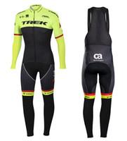 Wholesale bike jerseys kits online - UCI Pro team men s Winter Thermal Fleece Cycling jersey D gel pad bib pants kit Ropa Ciclismo Invierno bicycle bike clothing