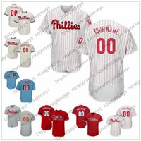 Wholesale Philadelphia Kid - Custom Philadelphia Baseball Jerseys Mens Womens Youth Kids Gray Road White red blue cream Personalized Sewn Any Your Own Name Number S,4XL