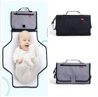 Wholesale fold change - Newest Land mommy diaper bags strecth folded bags Muiti-functional changing mat nappy handbags baby Healthy EVA stroller storage bags MPB41