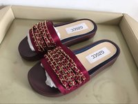 Wholesale High Heeled Slippers For Women - 2018 Women Slippers New Summer Slides Sandals Fashion Casual Beach Sandals For Ladies New Arrival Flat Shoes