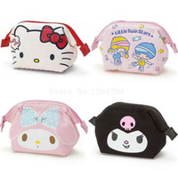 little coins 2018 - New Fashion Hello Kitty My Melody Little Twin Stars kuromi Girls Kids Mini Canvas Coin Purse For Children Gifts