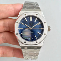 Wholesale hot christmas sales - 2018 Hot Sale AAA Luxury Watch For Men Automatic movement Blue dial ROYAL OAK series mens watch sapphire 15400 Stainless Steel mens watches