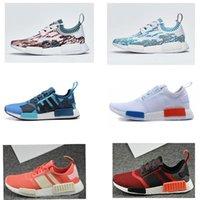 Wholesale R Shoes - Original 2017 NMD R1 PK Primeknit Running Shoes High Quality Men Women NMD RUNNER PK Boost socks Training Sneakers Sport Shoes R 2 szie36-45