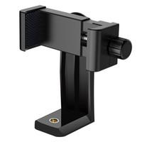 abrazadera adaptador trípode al por mayor-NUEVO Soporte para teléfono Trípode para teléfono Adaptador de montaje en la cabeza Soporte giratorio Selfie Monopod Abrazadera ajustable Alta calidad