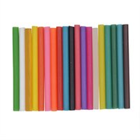 cinta adhesiva de fusión en caliente al por mayor-10 pz 7 * 100 mm de color transparente hot melt glue sticks vintage cera bolsa de sello de invitación embalaje instrumento de seguridad de reparación