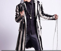 Wholesale night hot costumes resale online - S XL Hot Spring Men s New Fashion Performance Costume Singer Personality Night Club Bar Stage Slim Suit