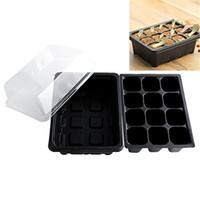ingrosso coltivi i semi di verdure-Inserire i semi di propagazione Grow Box Piantina Starter Vassoi per verdura Frutta Impianto 12 celle Giardino attrezzi Fioriera di alta qualità Pot