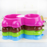 Wholesale Automatic Feeder For Pets - Automatic Water Dispenser Feeder Bowls For Puppy Cat Feeding Tools Multi Color Pet Dual Use Bowl Hot Sale 1 85aw C R
