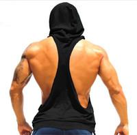 ingrosso giubbotto a forma di uomini-I SHAPED Vest for Men Underwear Summer Athletic Tank Top Abbigliamento con cappuccio sciolto T-shirt senza maniche