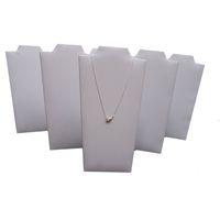 exibir leatherette branco venda por atacado-Adereços de exibição de jóias Branco Leatherette Colar Suporte de jóias Suporte de cavalete de pingente dobrável