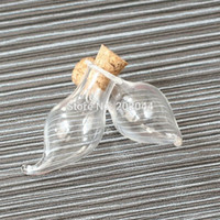 Wholesale clear decorative bottles - Wholesale- 50pcs 2*1.1cm 0.8*0.4 Cork Empty Small Tiny Clear Message Glass Bottles Charming Pendant Decorative Corked Mini Glass Bottle