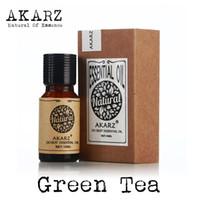 Green tea oil AKARZ Famous brand natural aromatherapy face body skin care green tea essential oil