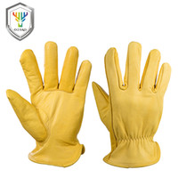 Wholesale leather mittens xl resale online - OZERO Men s Work Gloves Goat Leather Security Protection Safety Cutting Working Repairman Garage Racing Gloves For Men D18110705