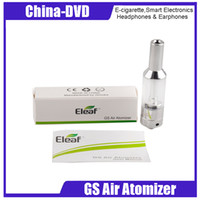 Wholesale vw air - Authentic Ismoka GS Air Atomizers Airflow Adjustable 2.5ml Dual Coil GS-Air Vaporizer Tank Fit istick VV VW Box Mod ecigarette