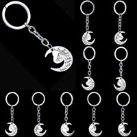 Wholesale Best Love Keychains - I Love You to the Moon and Back Heart Family Member Keychains Letter Grandma Grandpa Son Dad Sister Best Friend Key chain Key ring 170706