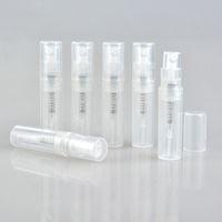 mini spray garrafas de 2ml venda por atacado-50 Pçs / lote Vazio 2 ml 3 ML 4 ML 5 ML mini spray de plástico frasco de perfume, promoção pequena amostra perfume atomizador