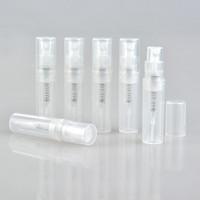 Wholesale 2ml atomizer bottles - 50PCS lot Empty 2ml 3ML 4ML 5ML mini plastic spray perfume bottle, small promotion sample perfume atomizer
