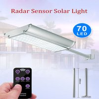 Wholesale one security resale online - LED Solar Street Light Wall Garden Lights led lm All in One with Motion Sensor Waterproof IP65 Super Bright Security Night Lighting