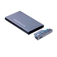 sabit diskler toptan satış-Süper hızlı Metal 2.5 Inç USB 3.0 Harici Durumda SATA HDD / SSD Sabit Disk Sürücüsü Muhafaza Kılıfları Ücretsiz nakliye