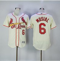 Wholesale st ball - Men s St Louis Cardinals Stan Musial Embroidery Cool Base Flex Base Ball Jersey