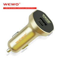 Wholesale Portable Car Ports - Wewo Fast Car Charger With Type C USB Dual Ports 3.2A Output For iPhone Micro Usb Type C Cable Phone Charger Portable Travel Charger