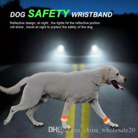 Wholesale dog sunglasses free shipping for sale - Reflective Dog Wristband High Visibility Safety Pet Bracelet Night Running Hiking Walking for Small Large Dogs AJI
