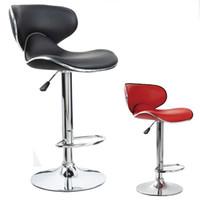 gegenzubehör großhandel-Schmetterling Zähler Leder Stuhl Bar Rezeption Mode Bank Stühle Moderne Einstellbare Synthetische Zubehör Eco Friendly Pub Neue 125lb2 jj