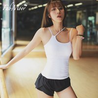 Wholesale Dry Fit Shirts Women - 2017 New Yoga tank top Women Pilate Spin class Power-walking Run Slim fit Tank Adjustable strap Wicking fabric Workout Shirts