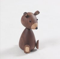 Wholesale home decor crafts kids for sale - Group buy Zakka Miniature cm Animal Figurine Wooden Sitting Squirrel Doll Crafts Decor Creative Kids Present Home Decoration Accessories