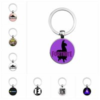 Wholesale Hot Women Toys - 8 styles Fortnite necklace toy props hot and classic gift set FPS Fortnite keychain Cool metal time gem pendant Game Animation Accessories