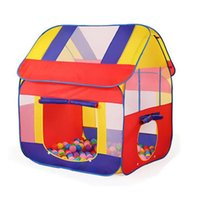 Wholesale castle games online - Durable Foldable Cute Kids Play Tent Baby Playhouse Colorful Castle Large Children Indoor Outdoor Game Tent